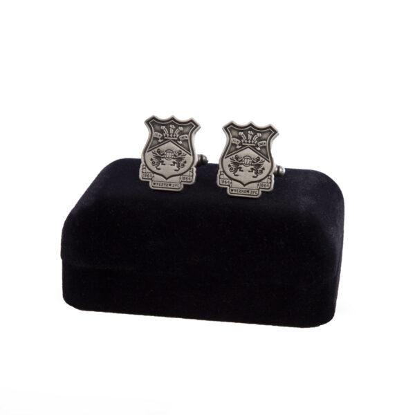Silver Crest Cufflinks Set